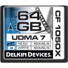 Delkin 64GB Cinema CF 1050X (Write: 120MB/s)