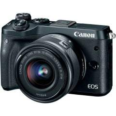 Canon EOS M6 + 15-45mm IS STM Kit - Musta