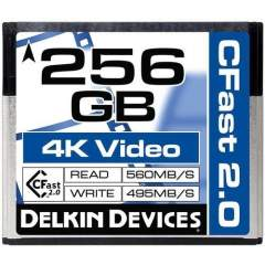 Delkin 256GB Cinema CFast 2.0 (Write: 495MB/s) muistikortti