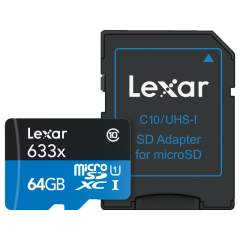 Lexar High-Performance 64GB microSDXC UHS-I (633x)