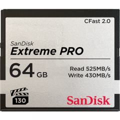SanDisk 64GB Extreme PRO CFast 2.0 (Write: 430MB/s)