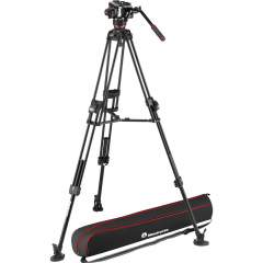 Manfrotto 645 Fast Twin Tripod videojalusta + 504X Fluid Video Head