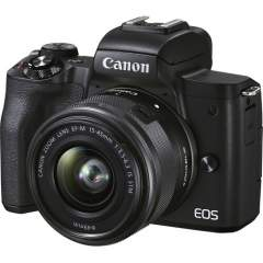 Canon EOS M50 Mark II + EF-M 15-45mm IS STM Kit - Musta